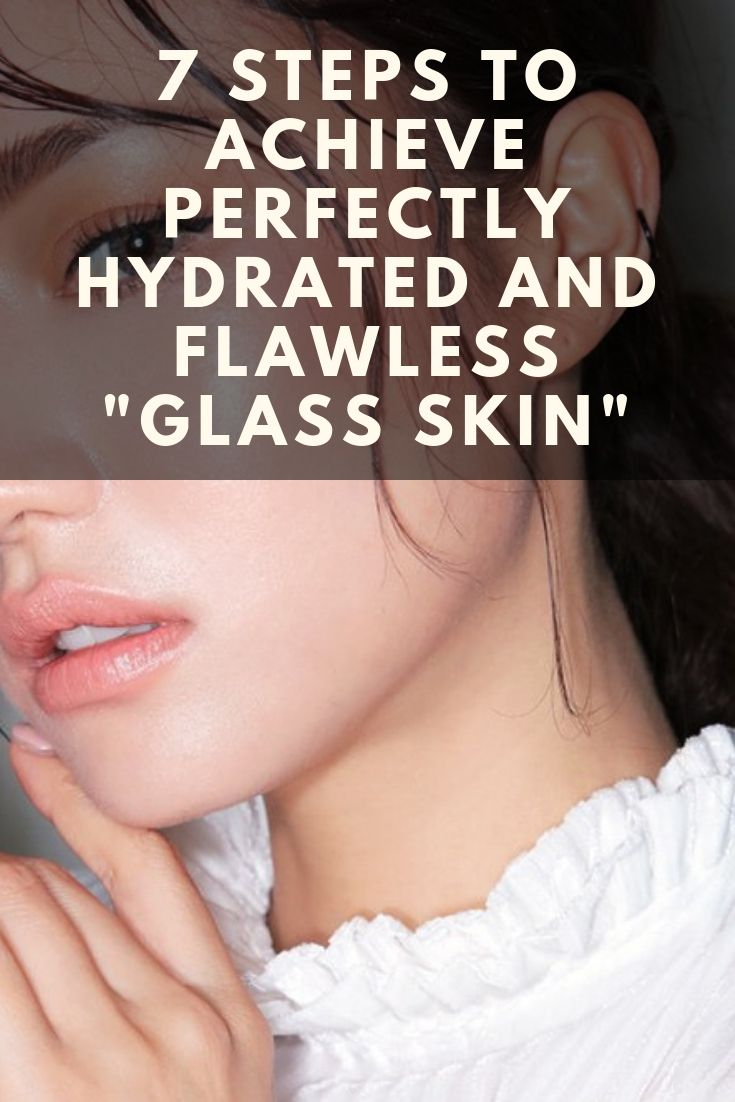 "Unlike most beauty trends, glass skin does not involve much makeup   It is more about a youthful shine of a healthy skin  Here are the steps of how to achieve a perfectly flawless ""glass skin""  S is part of Glass skin -"