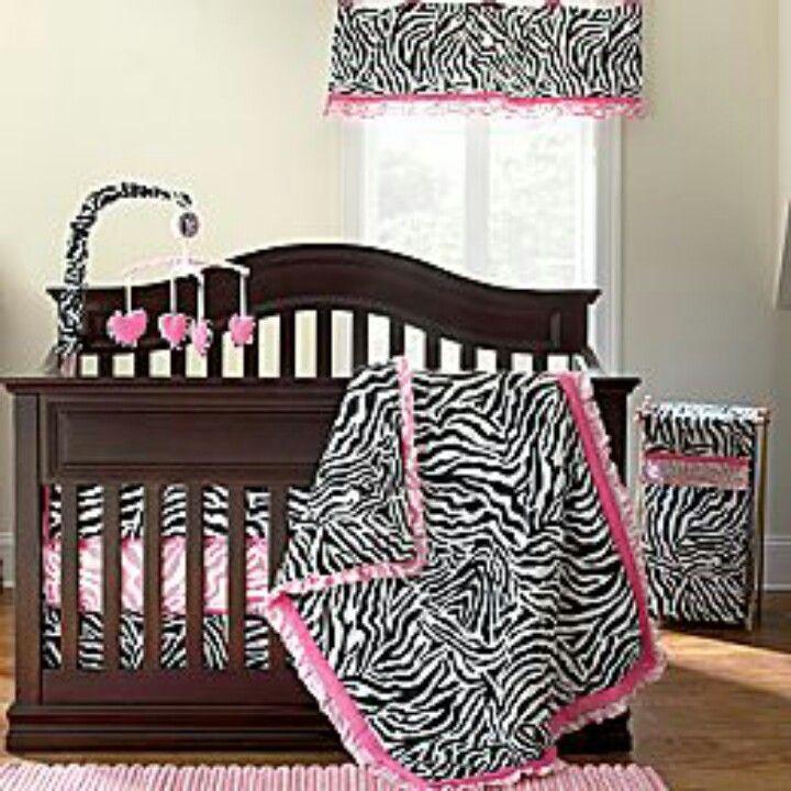 Zebra print crib set Zebra print crib