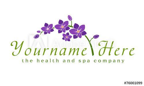 Logo Orchid Flower Spa Beauty Business Spa Logo Design Salon Logo Spa Logo