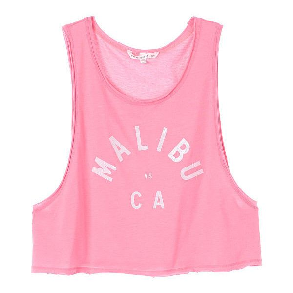 Victoria's Secret Low-Armhole Crop Tank (66 BRL) ❤ liked on Polyvore featuring tops, shirts, tank tops, tanks, pink, crop shirt, pink tank top, crop top, scoop neck shirt and scoop neck tank top