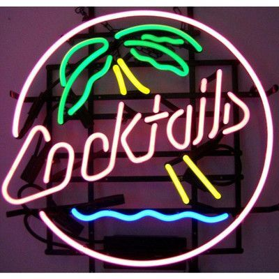 Neonetics business signs cocktails palm tree neon sign products bar lights neon bar signsneon signs homeneon aloadofball Choice Image