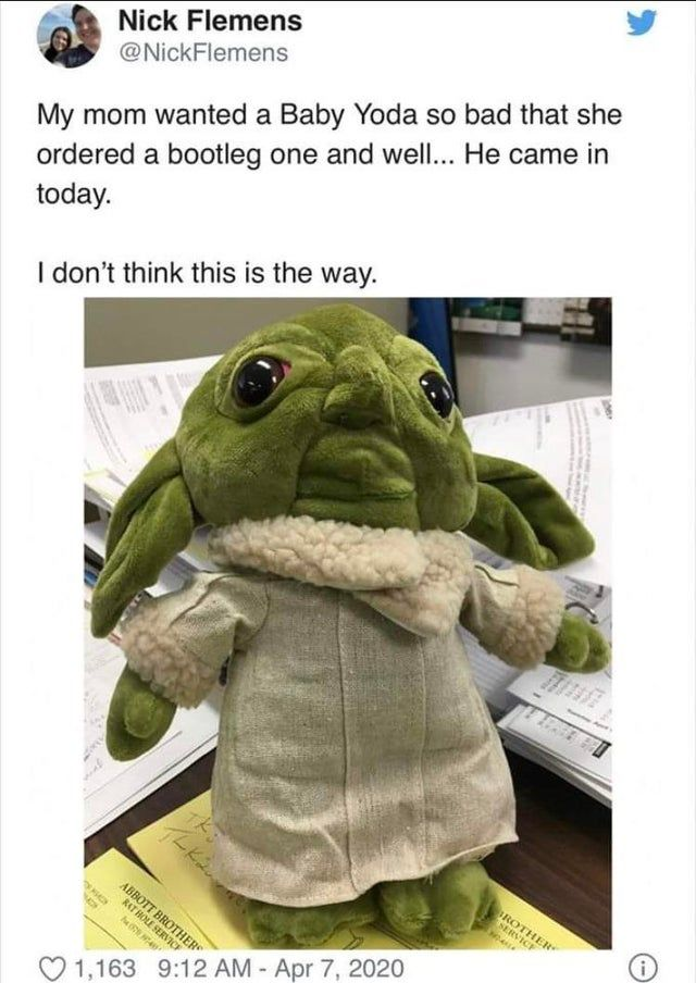 Blob fish and yoda has something going apparently...