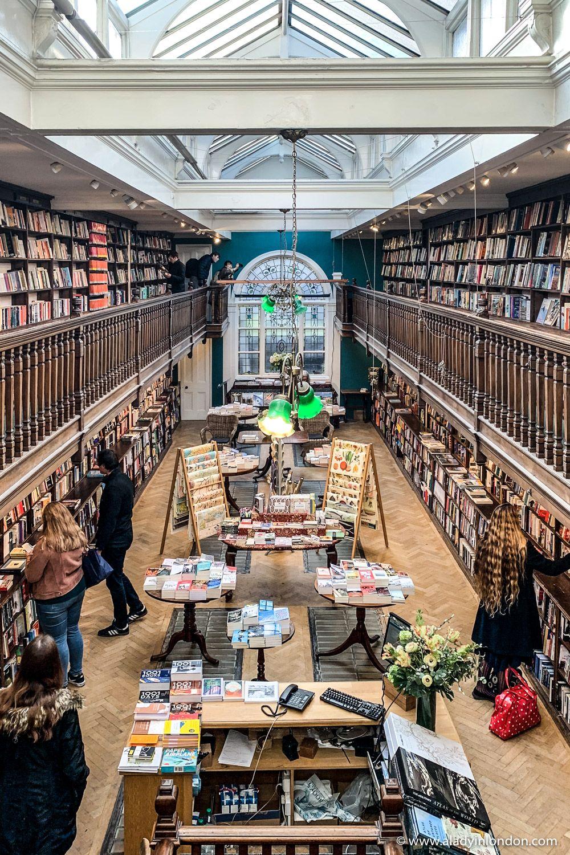 Beautiful Daunt Books in London, England - A Lady in London
