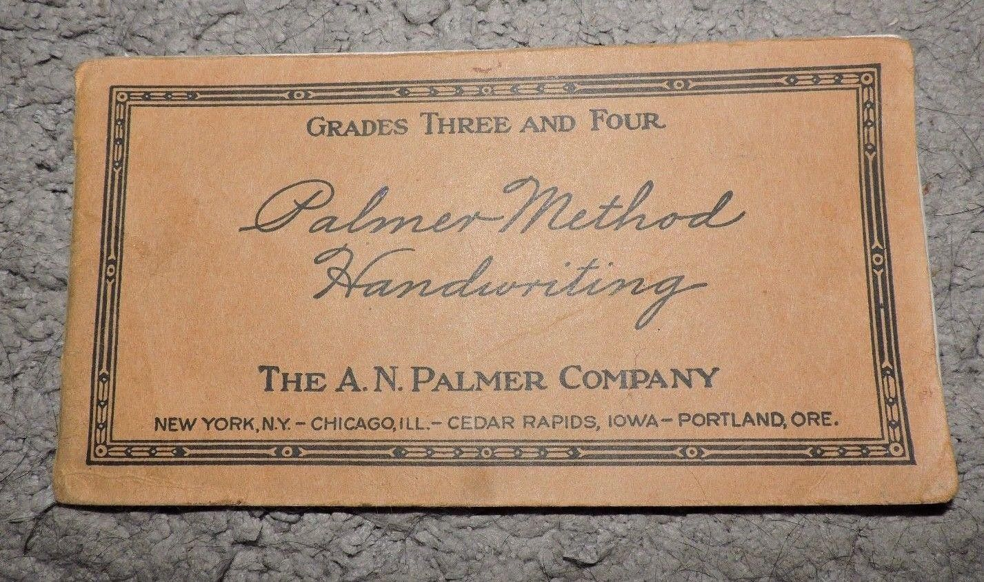 23 Vintage Palmer Method Handwriting Cursive