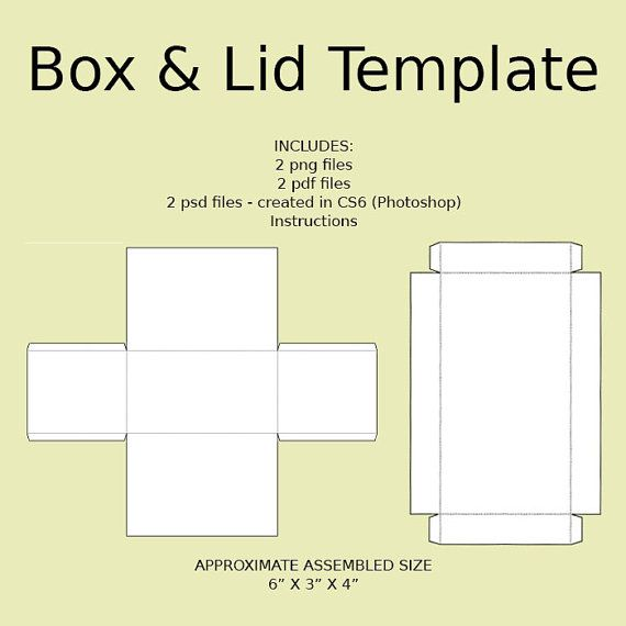 Digital Rectangle Box With Lid Templates The Dpi Is Set To  And