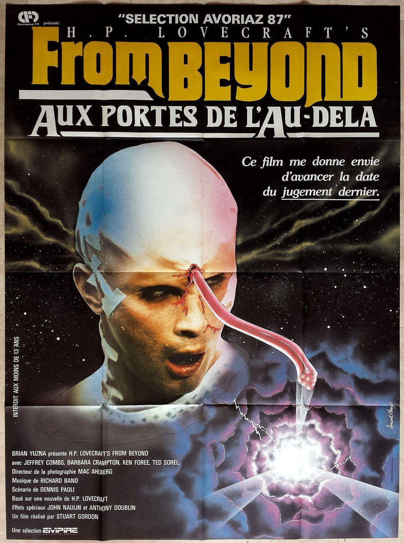 1986 from Beyond Stuart Gordon H P Lovecraft Horror French 47x63 Movie Poster | eBay