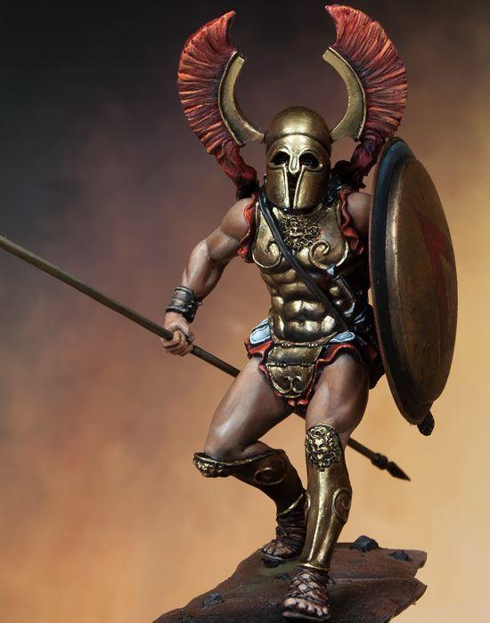 Greek Woman Warrior Spartan Oplite 75mm Bo...
