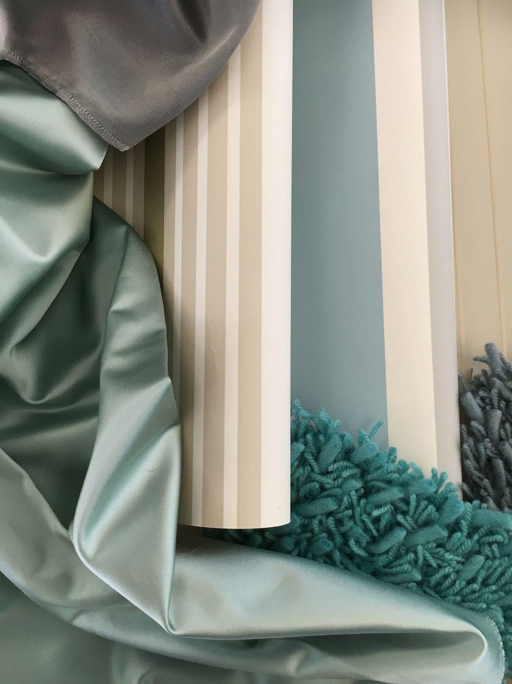 Designers Guild Essentials, #Tapete, #Satin #Store Und  Langflor Teppichboden #blau #blue #Streifen #Dekoration #Dekostoff #Vorhang  #Gardine #Teppich ...