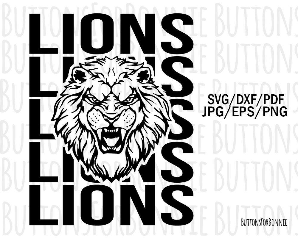 e787f71f99673 Lions svg, mascot svg, football, baseball, basketball, softball ...