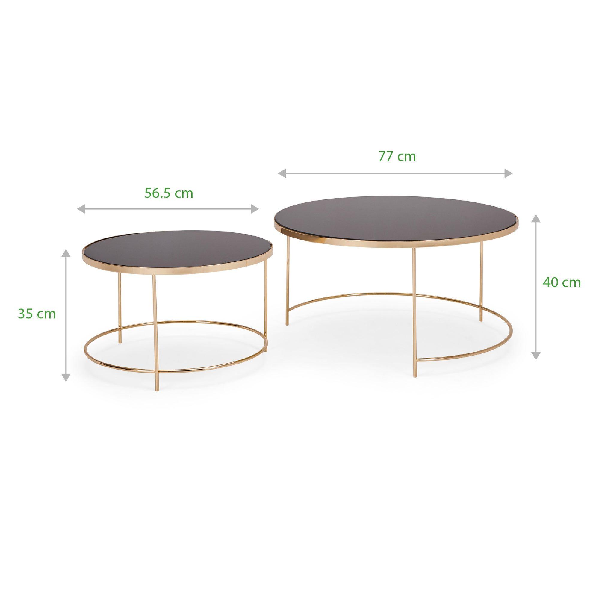 Ritz Black Set Of 2 Coffee Tables Coffee Table Black Glass Coffee Table Glass Top Coffee Table [ 2000 x 2000 Pixel ]