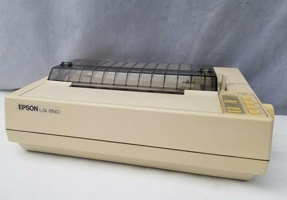 Epson Lq 850 Dot Matrix Printer Including Cable And User S Vintage Epson Ebay Store Mattress Home Decor