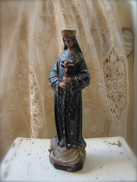 c5c2276c French Madonna Statue Our Lady of Pontmain   saints   Holy mary ...