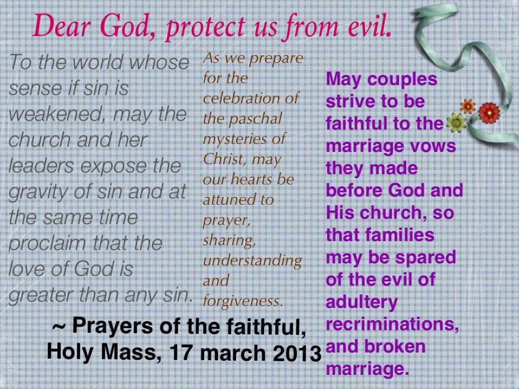 Today S Prayers Of The Faithful 17 March