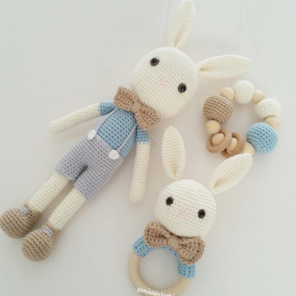 Canastilla de conejo ❤ | Aplicaciones del amigurumi | Pinterest ...