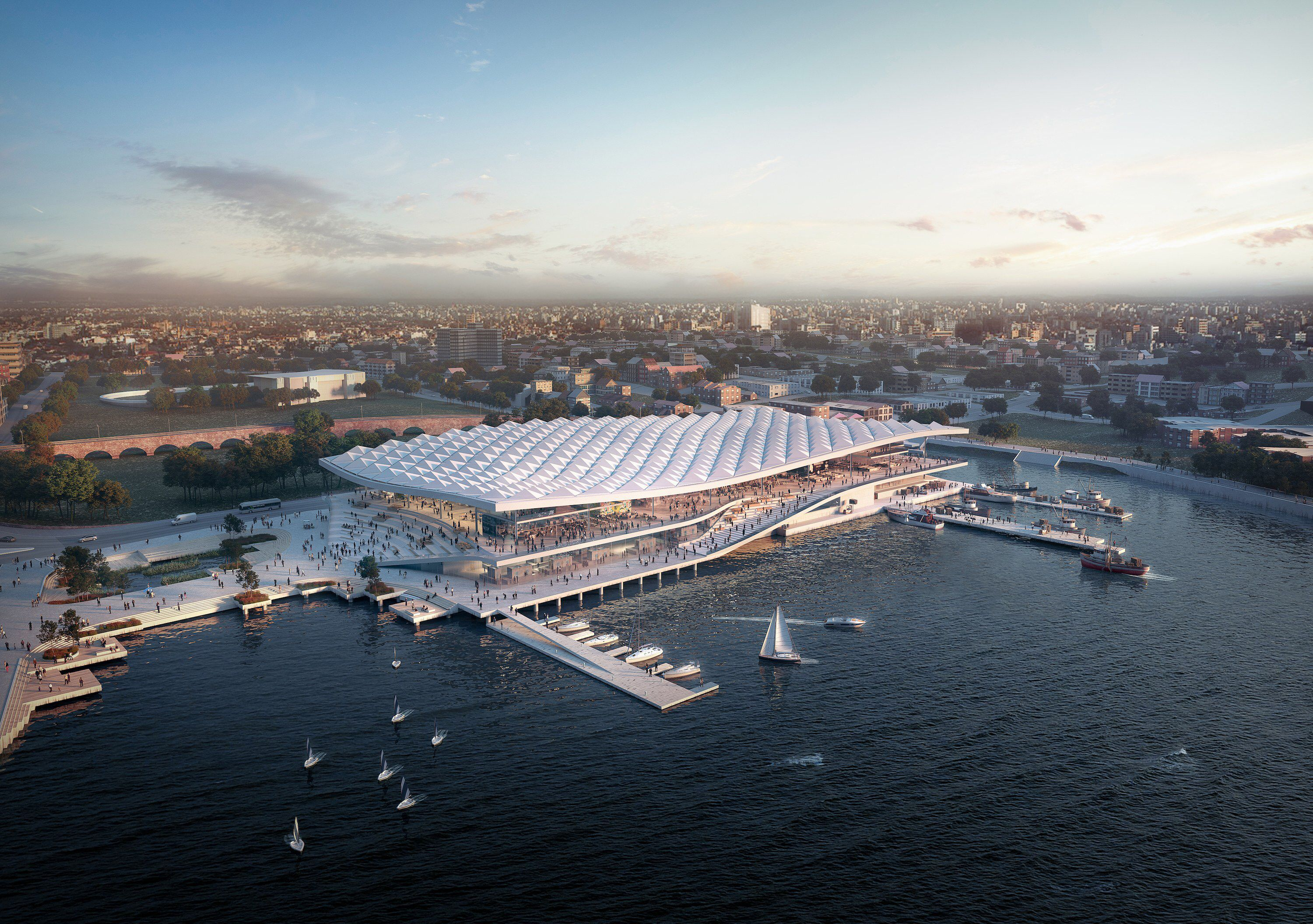 Sydney S New Fish Market Is A Futuristic Looking Structure With An