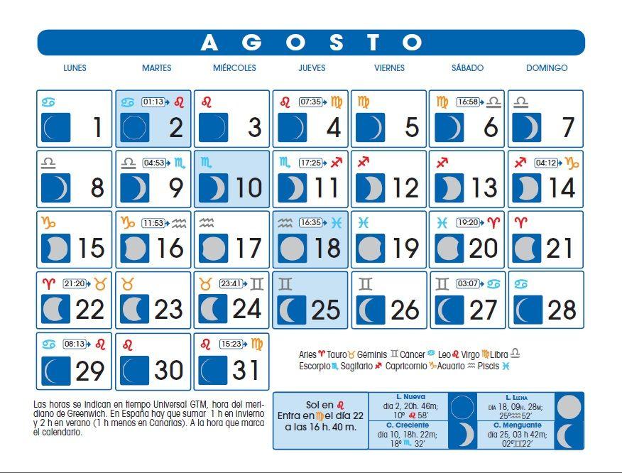Luna Llena Calendario.Calendario Lunar Astrologia Calendario Lunar Calendario Lunar