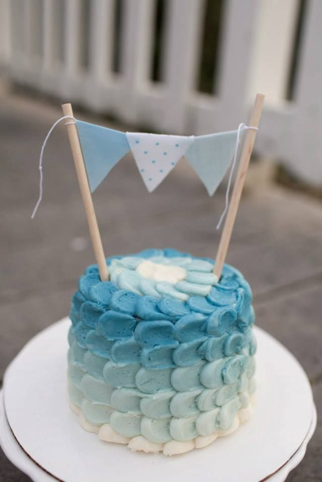 Adorable Baby Boy Ombre Smash Cake Angel Bites Bakery And