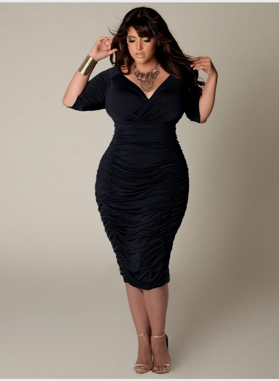 Short Black Dress With Long Sleeves Plus Size | Fashion Style 2015 ...