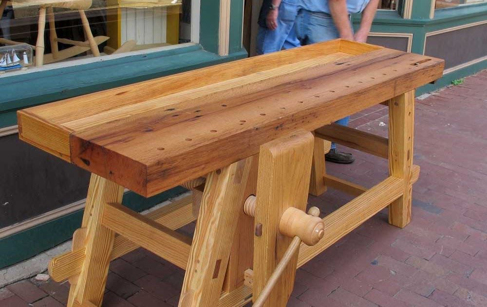 Moravian workbench plans Woodworking Bench Vise Plans