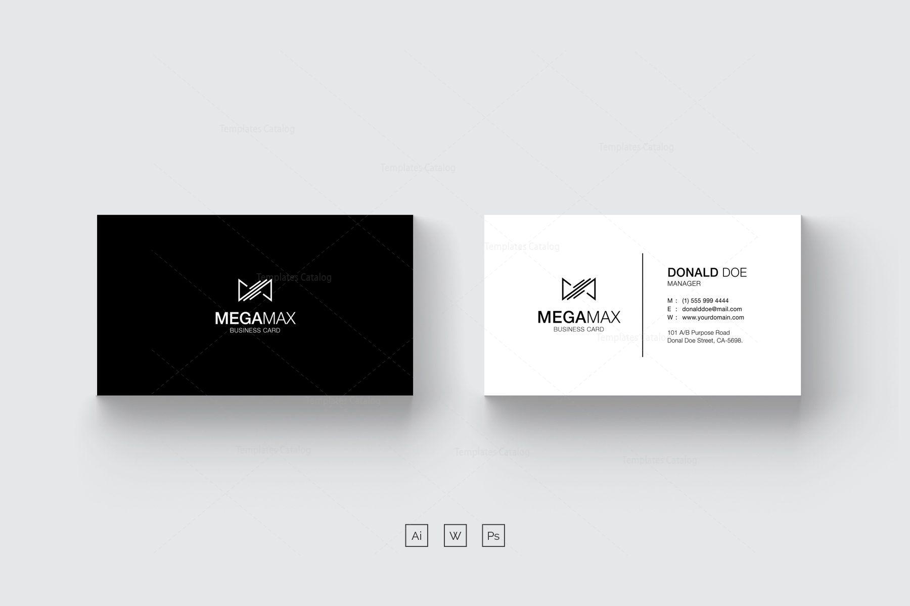 Minimal Black White Business Card Design 002424 Template Catalog White Business Card Design Free Business Card Templates White Business Card