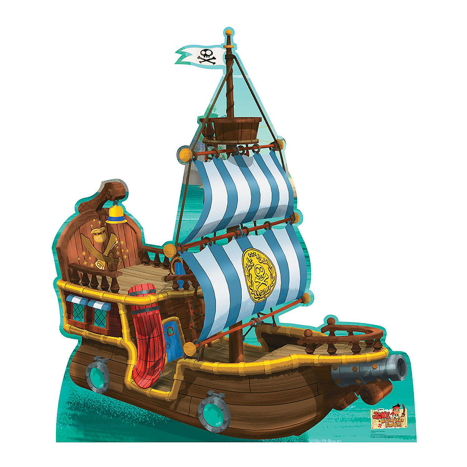 Jake & the Never Land Pirates Bucky Pirate Ship Cardboard Stand-Up ...