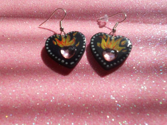 Flamming Heart by RummageAddict on Etsy, $7.00