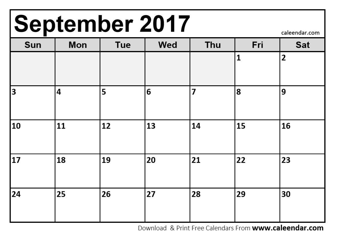 Image Result For September Calendar