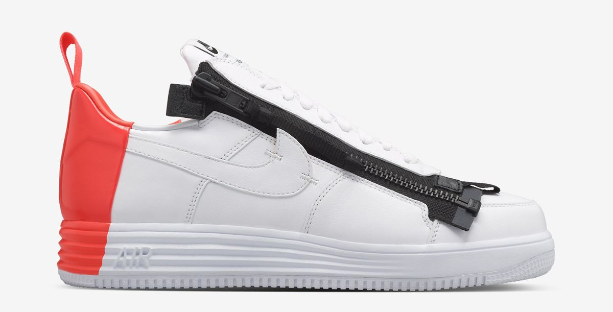 "cheap for discount 8ab89 fe141 ACRONYM x Nike Lunar Force 1 SP ""Zip"" - WhiteCrimson"