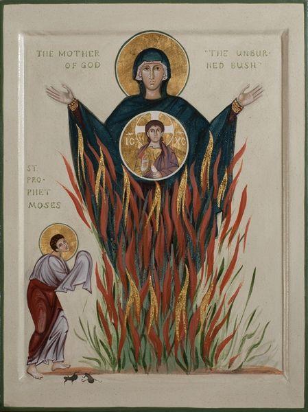 burning bush church fathers # 8