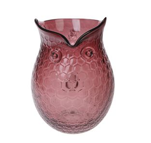 Owl Glass Jug, Large in Plum by Sass & Belle