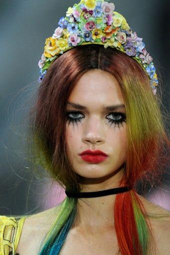 Rainbow hair @ Meadham Kirchhoff