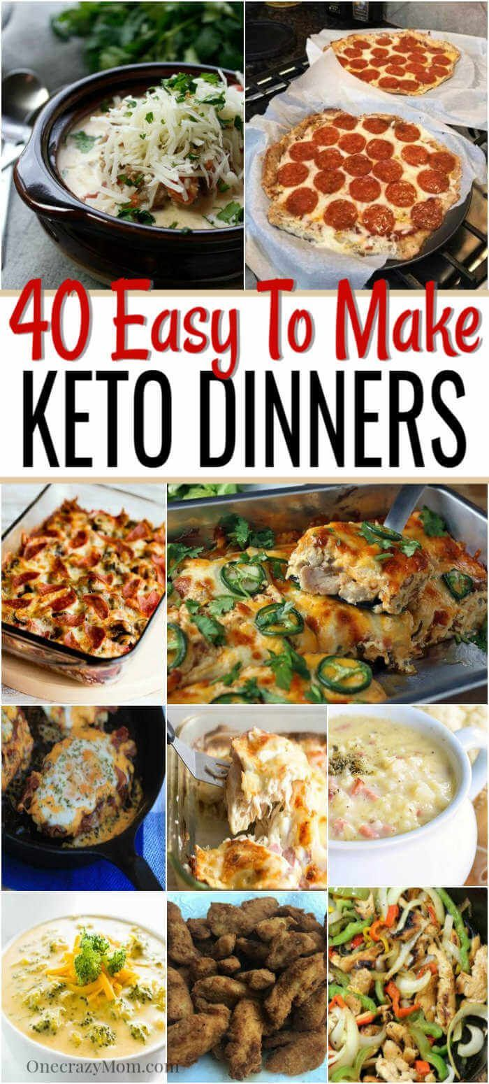 Easy Keto Dinner Ideas - 40 Easy Keto Dinner Recipes images