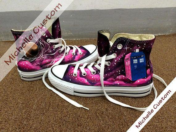 Galaxy Converse Custom Galaxy Shoes Hand Painted by MichelleCustom, $90.00