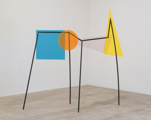 exasperated-viewer-on-air:  Amalia Pica - Memorial for Intersections, 2014 colour coated steel and coloured perspex 69 x 72-¼ x 29-½ inches (175.3 x 183.5 x 74.9 cm)