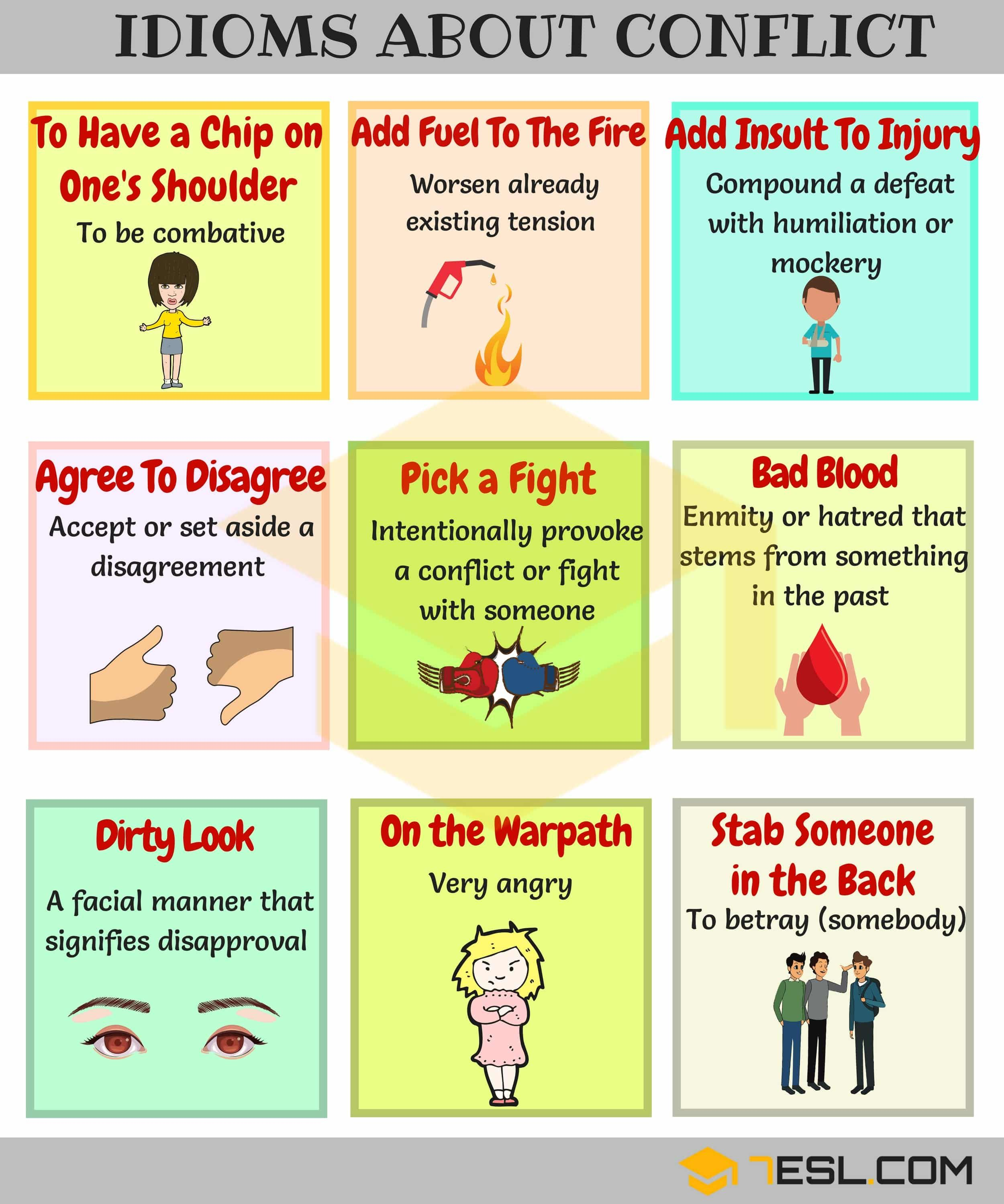 Conflict Idioms 30 Useful Idioms for Discussion and