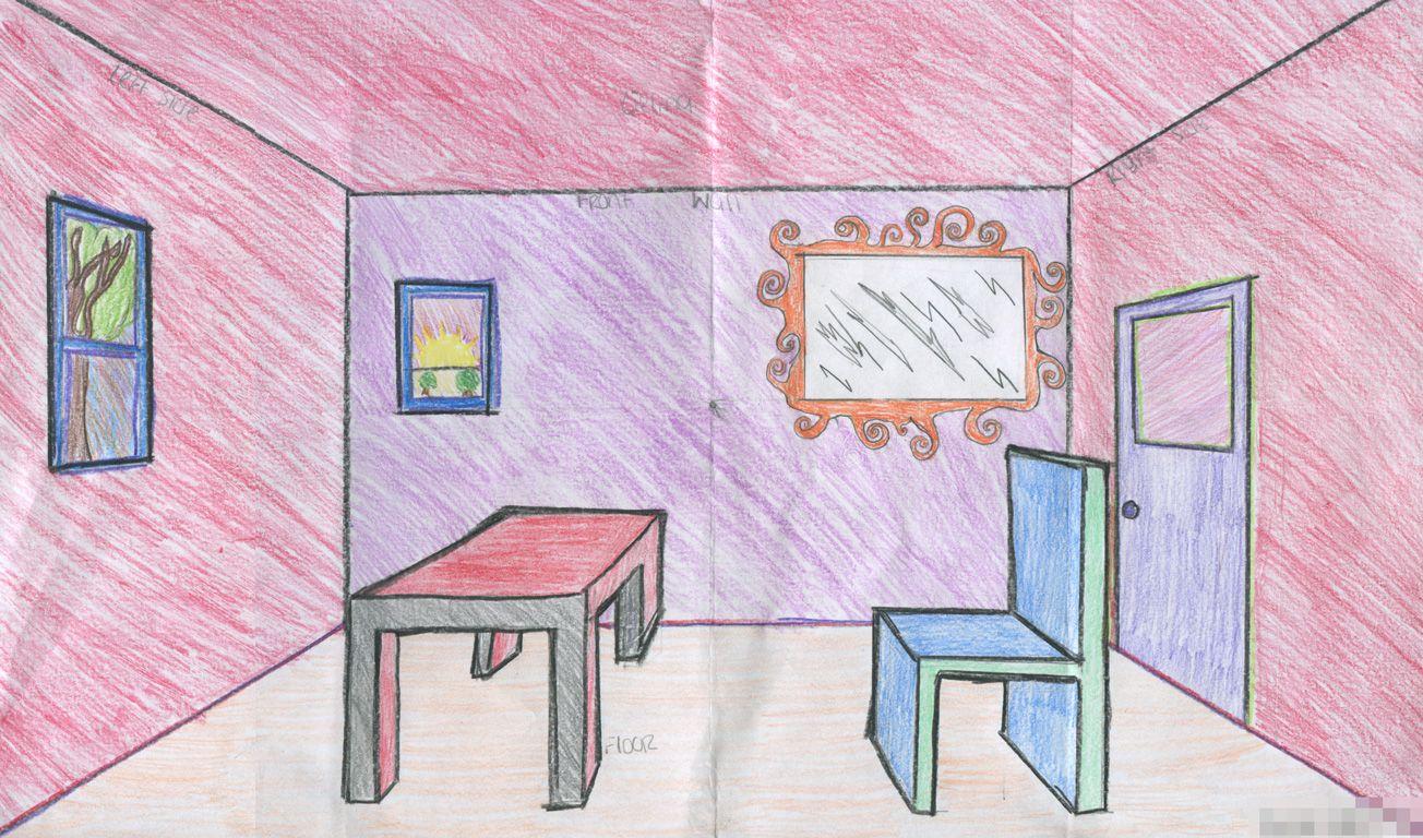 интерьер комнаты рисунки по изо сразу откроется прекрасный