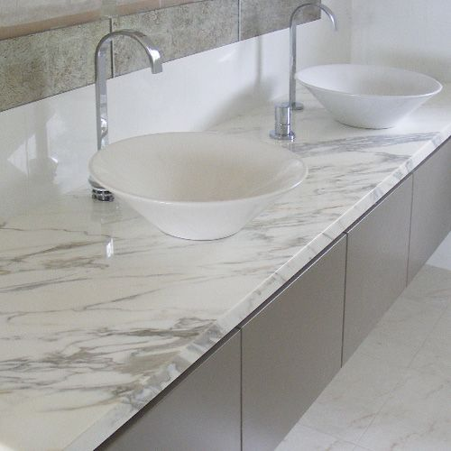 Grey And White Marble Bathroom: Soft Soothing Grey Marble Bathroom Vanity Top Complements