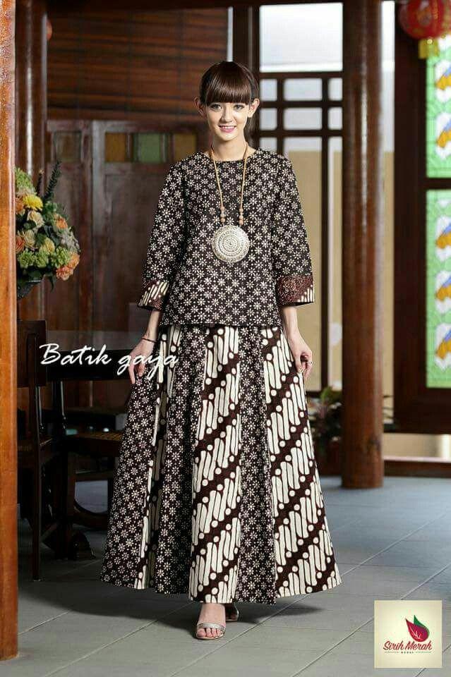 Anggun dgn batik Gaun Batik Modern 61fbbc855d