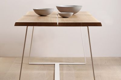 SOLID WOOD FURNITURE - S8 TABLE WITH STEEL LEGS livingwood s.r.o. HANDCRAFTED WITH PASSION | Wood floors, Parquet floors, Stairs, Terraces, Wall cladding, Solid wood furniture.