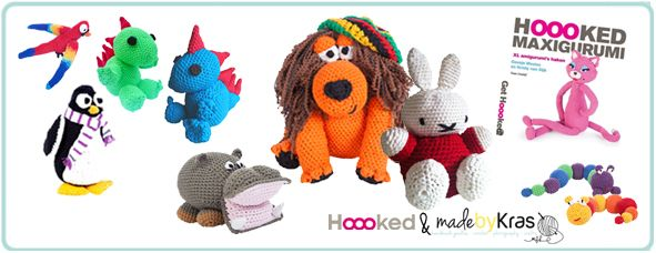 HOOOKED MAXIGURUMI - xxl amigurumi crochet patterns by madebyKras for Hoooked Zpagetti and RibbonXL