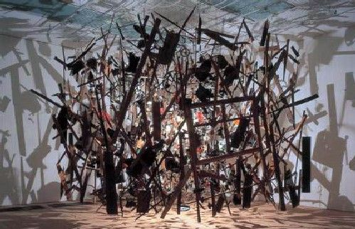 Cornelia Parker, 'Cold Dark Matter: An Exploded View', 1991 from Cornelia Parker Exhibition, Norwich Castle Museum