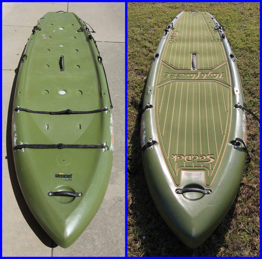 Check out the before and after pictures of this jackson for Fishing jackson kayak