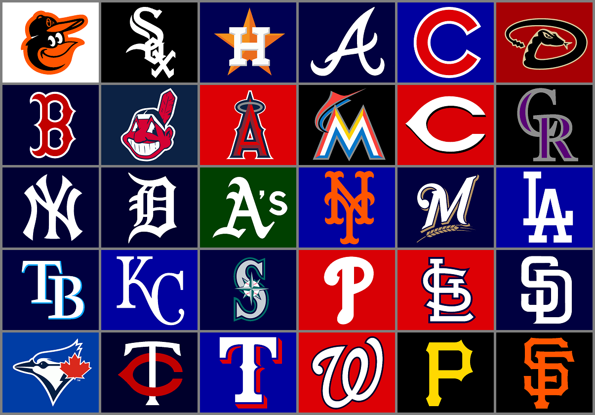 2016 Major League Baseball Preview Mlb Team Logos Baseball Teams Logo Major League Baseball Logo