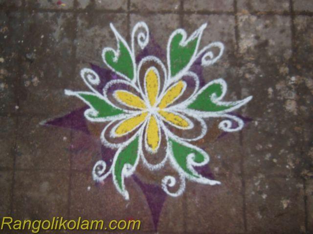Small Flower Kolam Rangolikolam