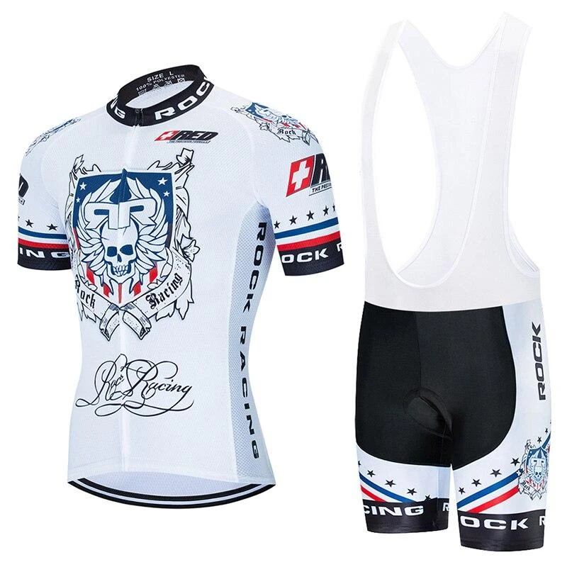 Rock Racing White Retro Cycling Jersey Kit