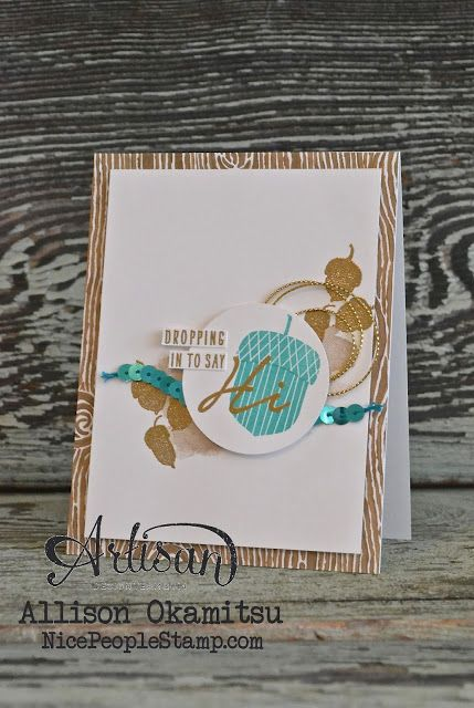 nice people STAMP!: Acorny Thank You Card: Stampin' Up! Artisan Blog Hop