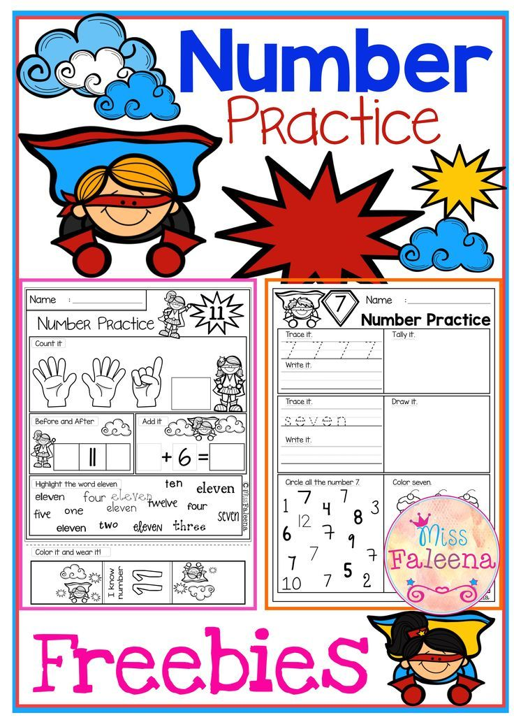 Free Number Practice   TpT FREE LESSONS   Pinterest   Kind