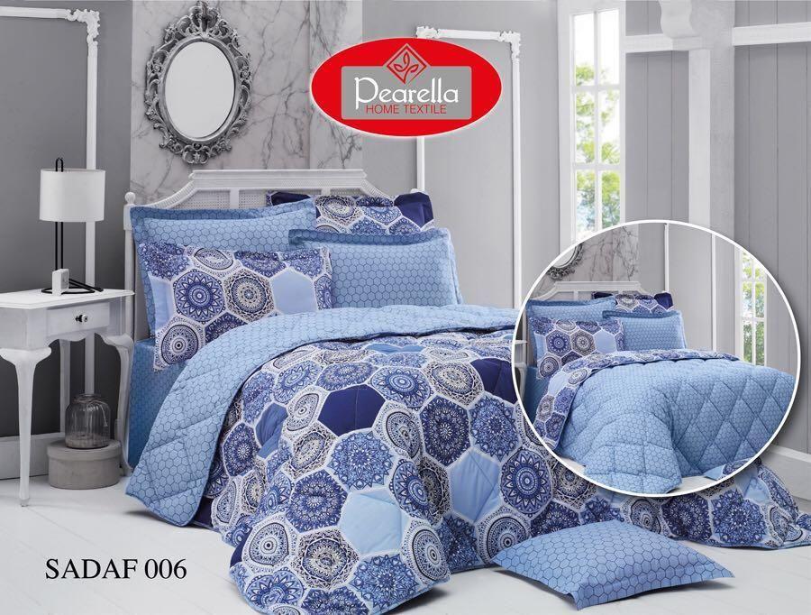 صورة مفرش مريح للعين لونه سماوي Summer Bedding Home Textile Bed