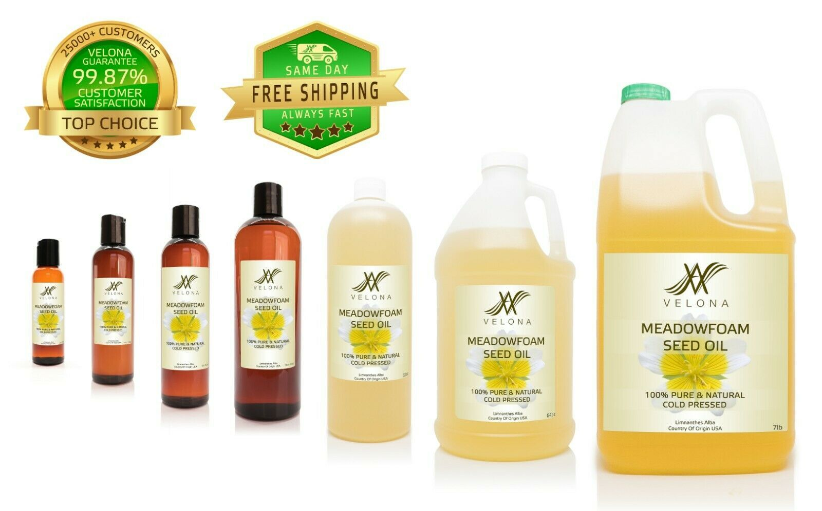 Meadowfoam Seed Oil 2oz 7lb Natural Carrier Expeller Pressed Velona Get One Natural Oils Seed Oil Organic Oil