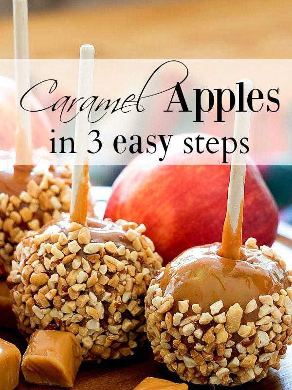 3 Step Caramel Apples #caramelapples